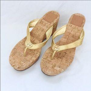 Tory Burch Cork Wedge Sandals